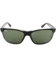 RayBan Rb4181 57 highstreet topp matt svart på trasp grå 6130 solglasögon