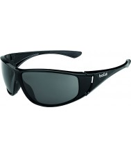 Bolle High blanka svarta polarise tns solglasögon