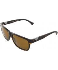 Emporio Armani Ea4035 58 moderna Dark Havana 502683 polariserade solglasögon
