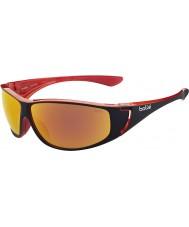 Bolle High glänsande svart röd polariserad tns brand solglasögon