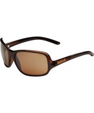 Bolle Kassia glänsande choklad polariserad sandsten gun solglasögon