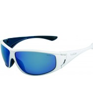 Bolle High skinande vita blå polarise offshore blå solglasögon