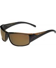 Bolle Keelback glänsande brun polarise ag-14 solglasögon