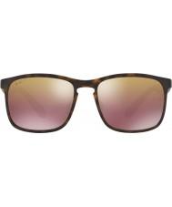 RayBan Rb4264 58 tech chromance matt Havana 894-6b brun spegel polariserade solglasögon