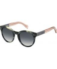 Tommy Hilfiger Damer th 1291-ns MBR 9o gröna havana rosa solglasögon