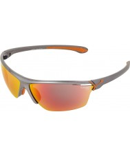 Cebe Cinetik stora metalliska grå solglasögon