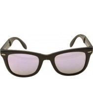RayBan Rb4105 50 fällbara wayfarer mattsvart 601s4k lila spegel solglasögon