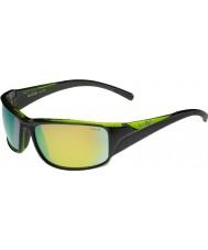 Bolle Keelback glänsande svart grön polariserade bruna smaragd solglasögon