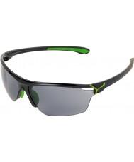 Cebe Cinetik stora blanka svart grön solglasögon