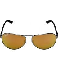 RayBan Rb8313 tech carbon fiber gunmetal - guld spegel