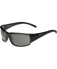 Bolle Keelback blanka svarta polarise tns solglasögon