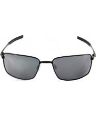 Oakley Oo4075-01 kvadrat tråd polerad svart - svart iridium solglasögon