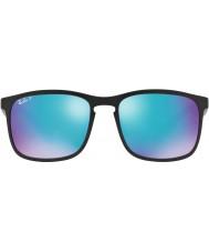 RayBan Rb4264 58 tech chromance matt svart 601sa1 blå blixt polariserade solglasögon