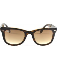 RayBan Rb4105 50 fällbara wayfarer ljus Tortoiseshell 710-51 solglasögon