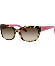 Kate Spade New York Damer johanna-s ryp Y6 havana rosa solglasögon