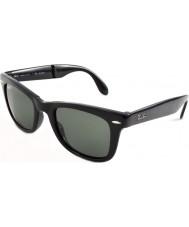 RayBan Rb4105 50 fällbara wayfarer svart 601-58 polariserade solglasögon