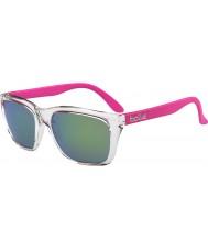 Bolle 527 retro insamlings skina crystal rosa brun smaragd solglasögon