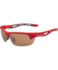 Bolle Bolt s glänsande röd modulator v3 golf solglasögon