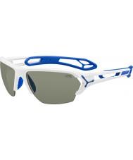 Cebe S-track stora blanka vita solglasögon