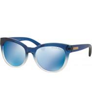Michael Kors Mk6035 53 mitzien jag slösar skuggade 312255 blå spegel solglasögon