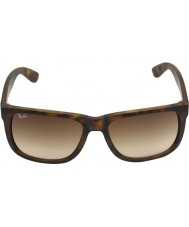 ... RayBan Rb4165 55 justin gummi ljus Tortoiseshell 710-13 solglasögon 9dd3502232101