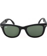 RayBan Rb4105 50 fällbara wayfarer mattsvart 601S solglasögon
