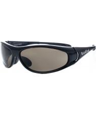 Bolle Spiral glänsande svart tns solglasögon