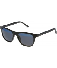 Police Man het en s1936v-u28b mattsvart speglade blå solglasögon