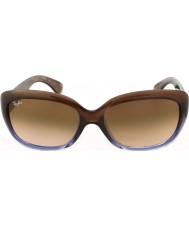 RayBan Rb4101 58 jackie ohh brun lutning syren 860-51 solglasögon
