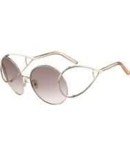 Chloe Damer ce124s guld och persika solglasögon