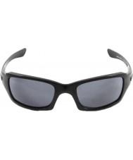 Oakley Oo9238-04 femmor kvadrat polerad svart - grå solglasögon