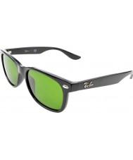 RayBan Junior Rj9052s 47 nya wayfarer glänsande svart 100-2 solglasögon