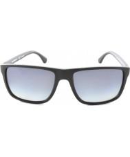 Emporio Armani Ea4033 56 moderna svarta grå gummi 5229t3 polariserade solglasögon