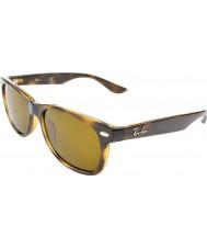 RayBan Junior Rj9052s 47 nya wayfarer glänsande havana 152-3 solglasögon