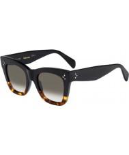 Celine Damer cl 41090-s fu5 Z3 Black sköldpaddsskal solglasögon
