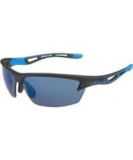 Bolle Bolt mattsvart rose-blå solglasögon
