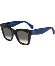 Celine Damer cl 41090-s QLT Z3 Black havana blå solglasögon
