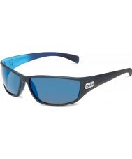 Bolle Python mattsvart blå polarise gb-10 solglasögon