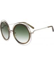 Chloe Damer ce120s carlina guld khaki solglasögon
