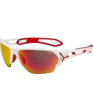 Cebe S-track stor matt vit röd solglasögon