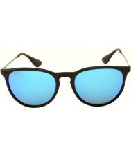 RayBan Rb4171 54 erika svart 601-55 blå speglad solglasögon