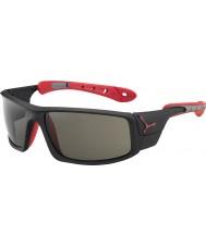 Cebe Is 8000 matt svart röd variochrom topp solglasögon