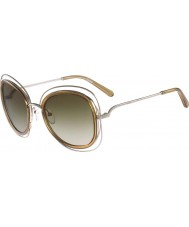 Chloe Damer ce123s carlina skins guld- solglasögon