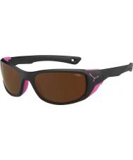 Cebe Jorasses medel matt svart rosa 2000 brun flash spegel solglasögon