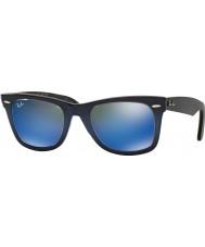 RayBan RB2140 50 ursprungliga Wayfarer blå lutning på ljusblå 120368 blå spegel solglasögon