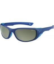 Cebe Jorasses medel matt mörkblå variochrom topp flash spegel solglasögon