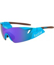 Bolle 6th Sense AG2R glänsande brun blå-violett solglasögon
