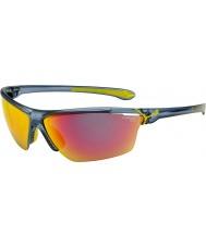 Cebe Cinetik stor matt genomskinliga blå solglasögon
