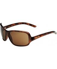 Bolle Kassia glänsande sköldpaddsskal polariserad a-14 solglasögon