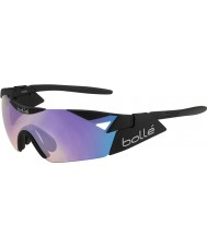 Bolle 6th Sense s matt svart blå-violett solglasögon